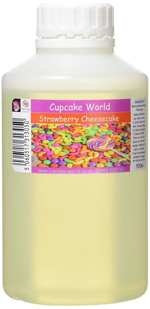 Cupcake World Intense Food Flavouring Strawberry Cheesecake 500ml