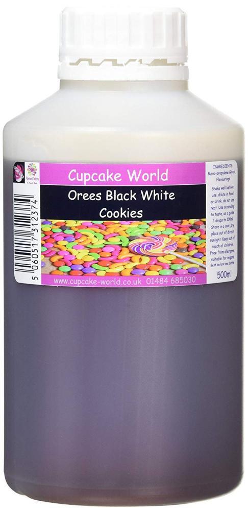 Cupcake World Orees Black White Cookies 500ml