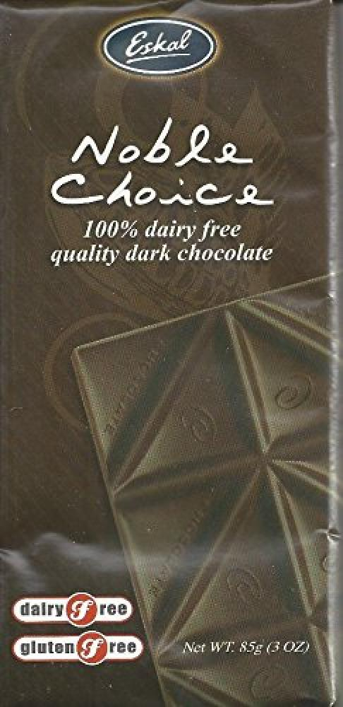 Eskal Gluten Free Dairy Free Noble Choice Dark Chocolate Bar 85g