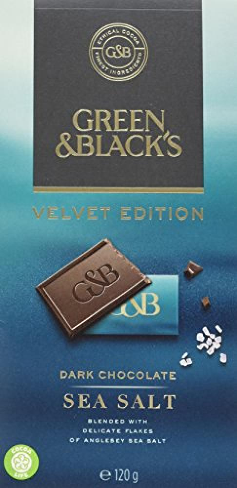 Green and Blacks Velvet Edition Sea Salt Mini Dark Chocolate Bars 120g