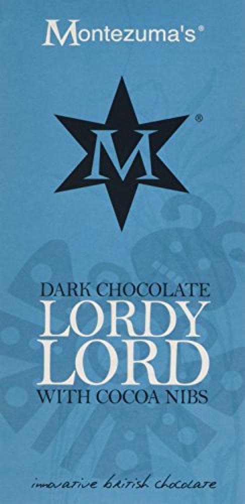 Montezumas Lordy Lord Dark Chocolate with Cocoa Nibs 100 g