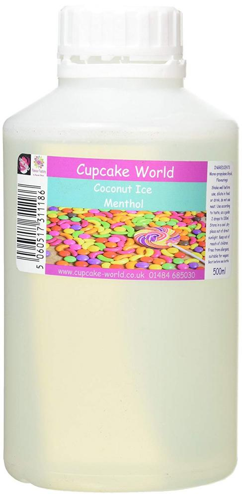 Cupcake World Coconut Ice Menthol Intense Food Flavouring 500ml