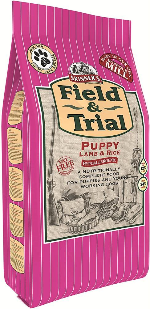 Skinners Field and Trial Complete Dry Hypoallergenic Puppy Food Lamb and Rice 2.5 kg