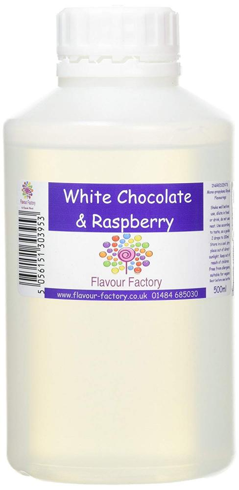Flavour Factory Intense Food Flavouring White Chocolate and Raspberry 500ml