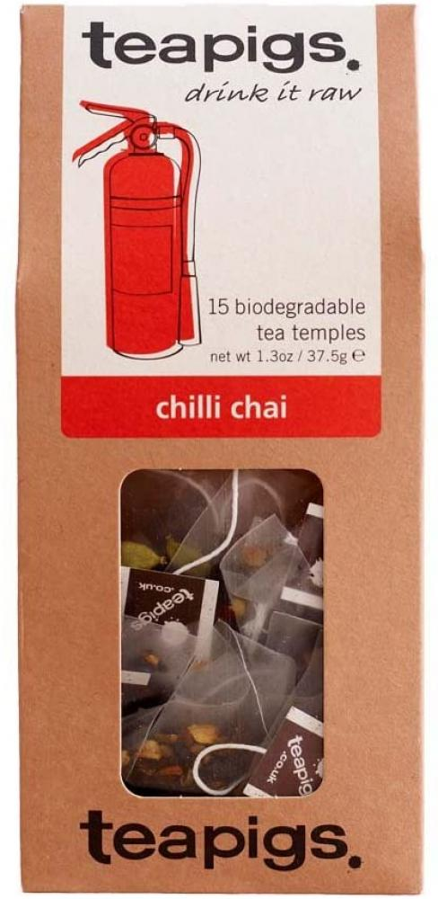 Teapigs Chilli Chai Tea Bags Made with Whole Leaves (1 Pack of 15 Tea Bags)