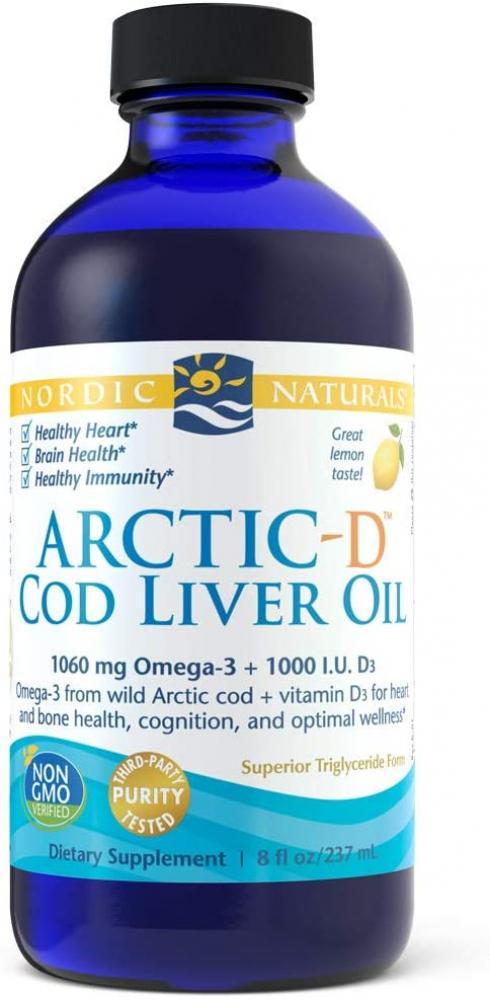 Nordic Naturals Arctic-D Cod Liver Oil Lemon Flavour 237ml