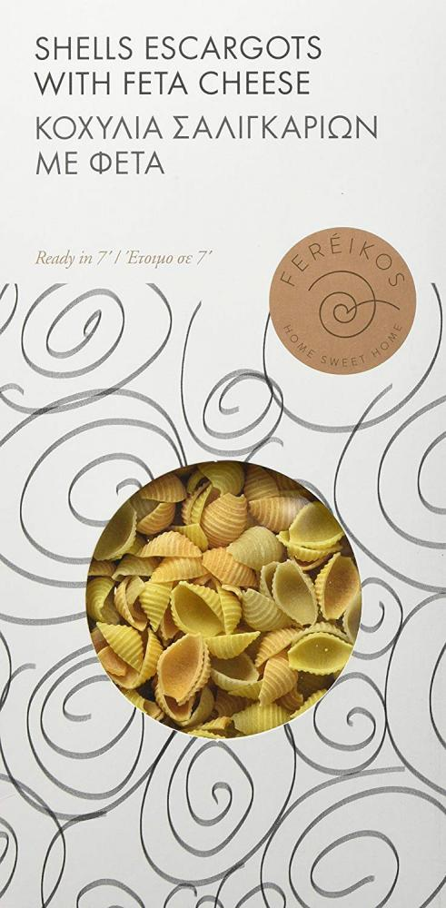 Fereikos Shell Pasta with Escargots and Feta Cheese 330g