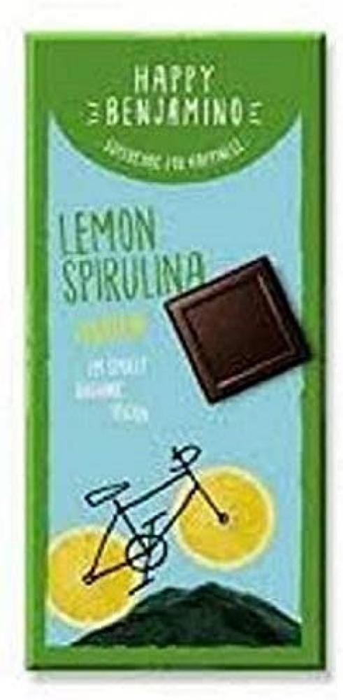 Happy Benjamino Lemon Spirulina Protein Chocolate Bar 70g