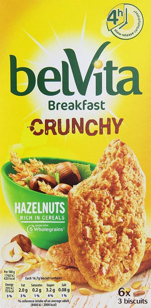 SALE  Belvita Crunchy Hazelnut Breakfast Biscuits 300g