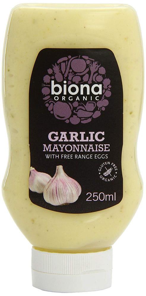 Biona Organic Squeezy Garlic Mayonnaise 250g