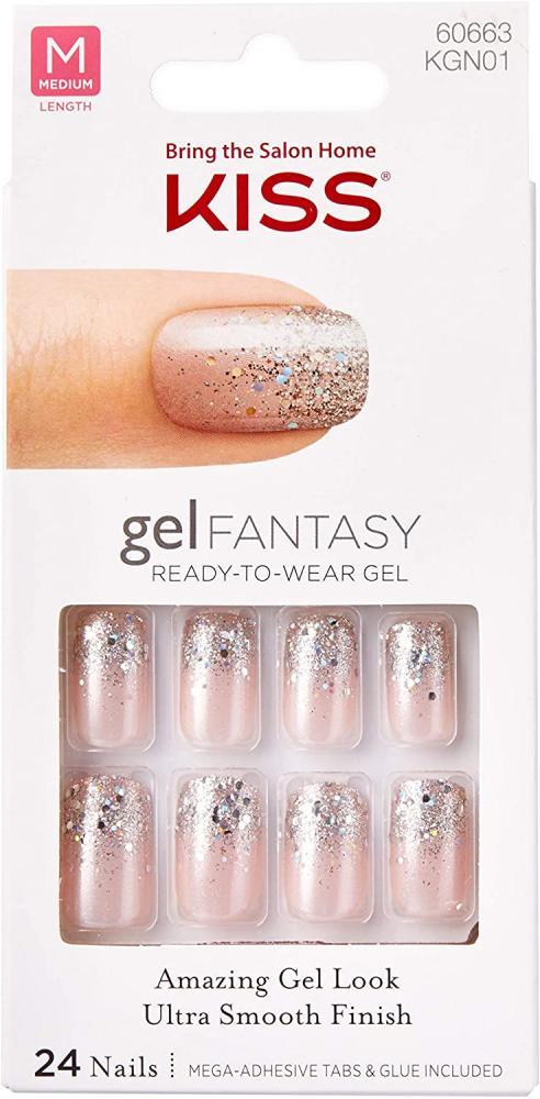 Kiss Gel Fantasy Nails Medium 24 Nails