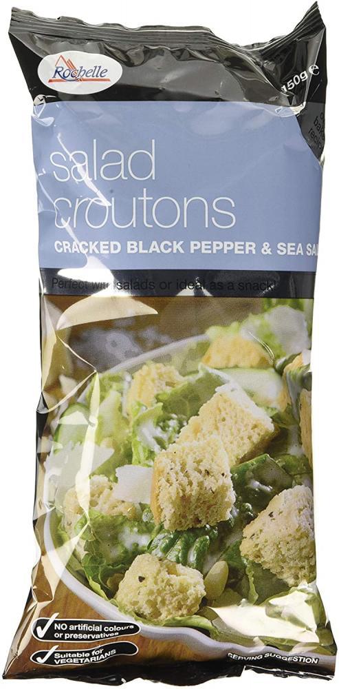 La Rochelle Cracked Black Pepper And Sea Salt Salad Croutons 150 g