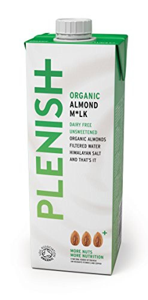 Plenish Organic Dairy Free Almond Milk Unsweetened 1L