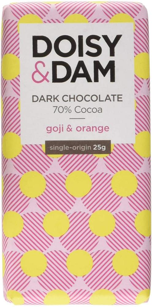 Doisy and Dam Goji and Orange Chocolate Bar 25g