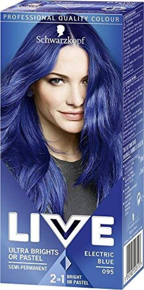 Schwarzkopf Live Ultra Bright or Pastel Colouration Electric Blue Number 095