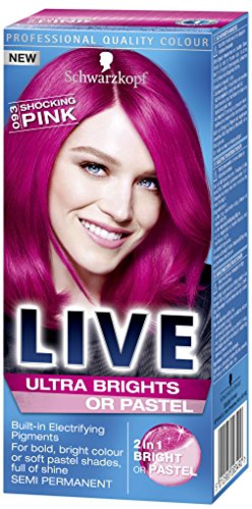 Schwarzkopf Live Ultra Bright or Pastel ColourationShocking Pink Number 093