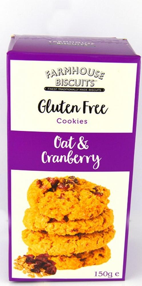 Farmhouse Biscuits Gluten Free Oat and Cranberry Cookies 150g
