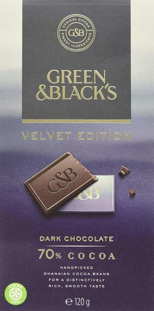Green and Blacks Velvet Edition Dark Chocolate 120g