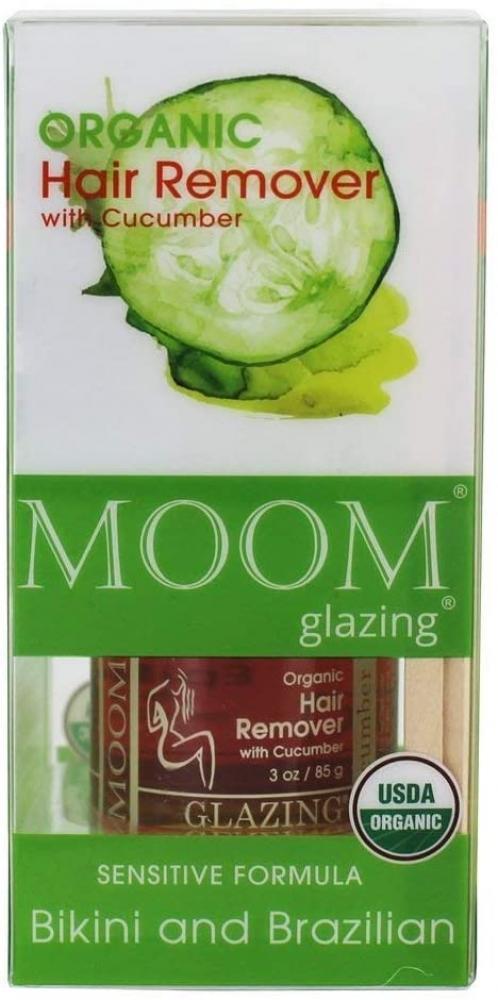 Moom Organic Sensitive Formula Hair Remover with Cucumber for Bikini and Brazilian 85 g