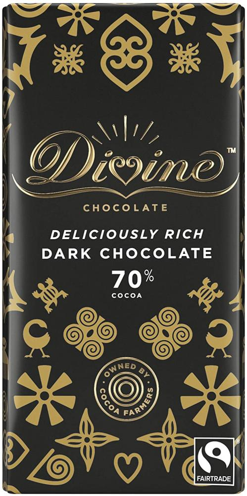 Divine 70 Percent Dark Chocolate 90 g