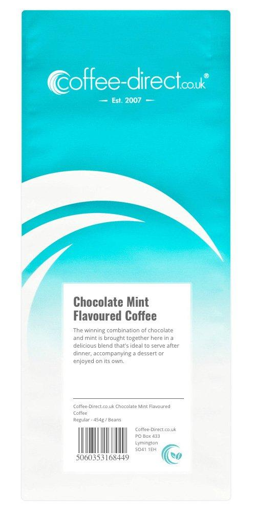 Coffee Direct Chocolate Mint Flavoured Coffee Beans 454g