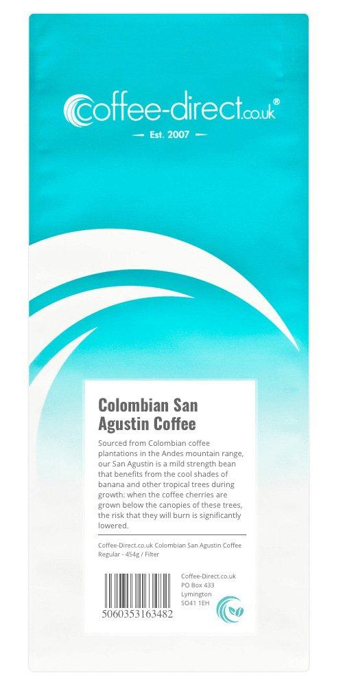 Coffee Direct Colombian San Augustin Coffee Filter Grind 454g