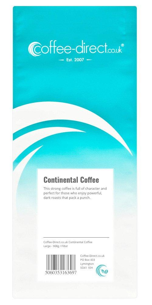 Coffee Direct Continental Coffee Filter Grind 908 g