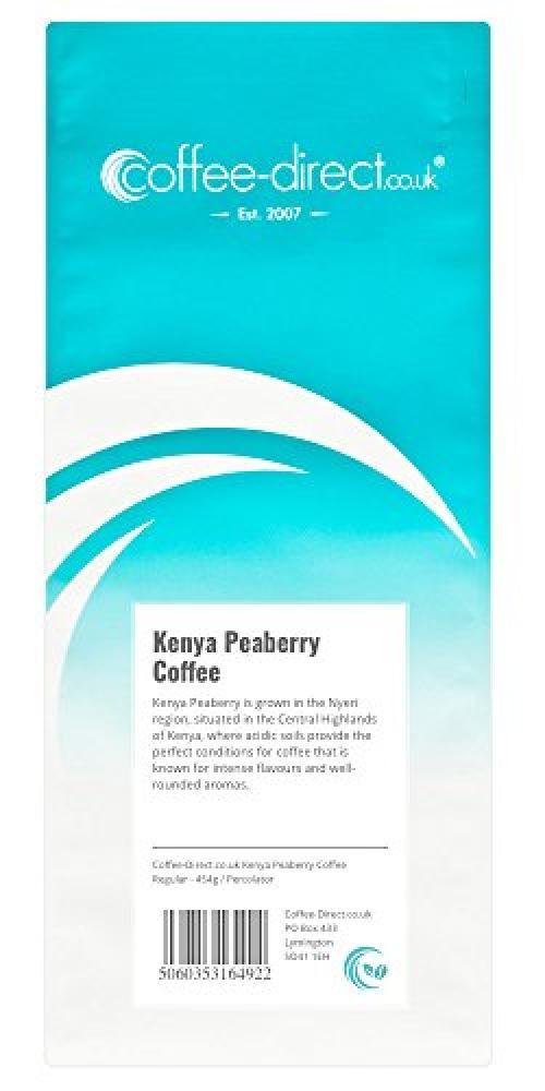 Coffee Direct Kenya Peaberry Coffee Percolator Grind 454g