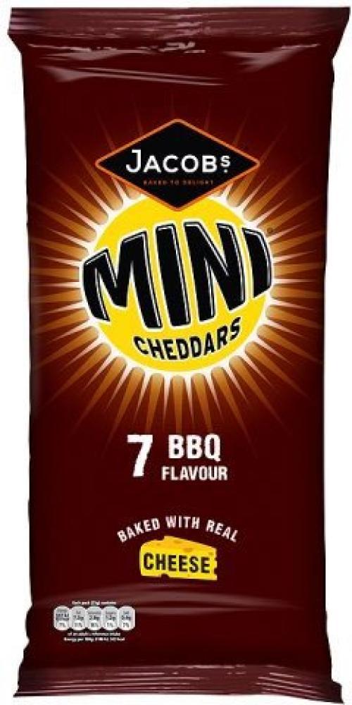 Jacobs Mini Cheddars BBQ Flavour 25g x 7