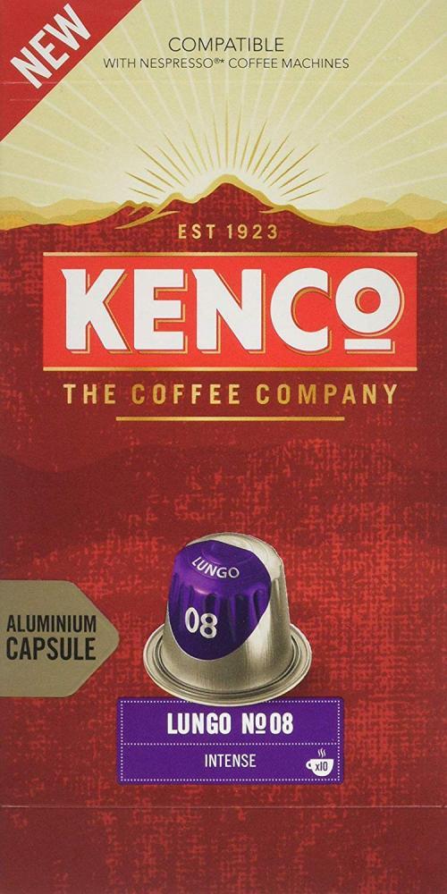 Kenco Lungo No 08 Intense 10 Capsules