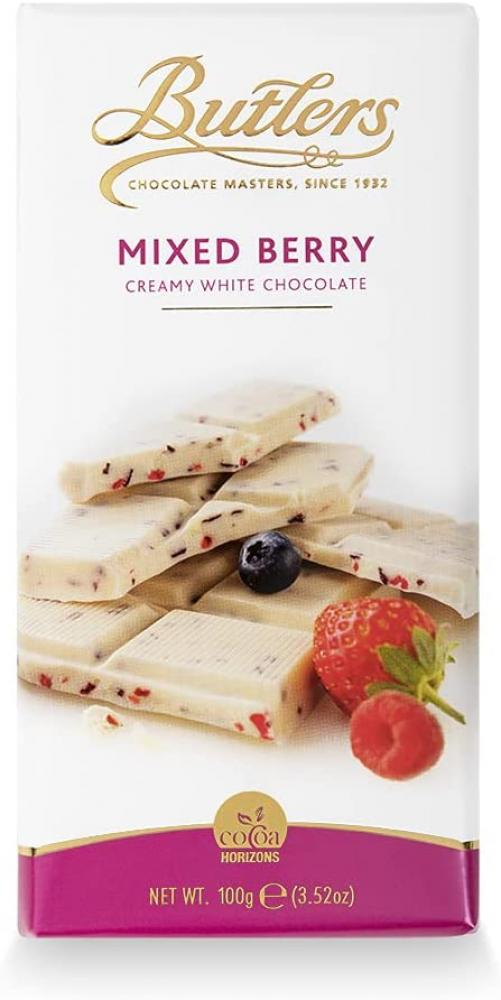 Butlers White Chocolate Bar with Mixed Berries 100g