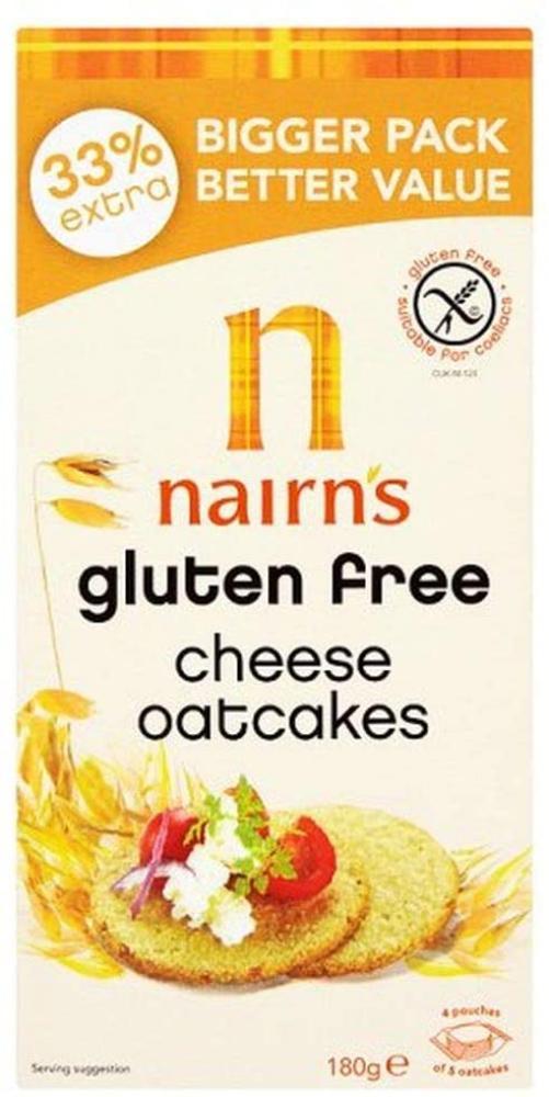 Nairns Gluten Free Cheese Oatcakes 180g