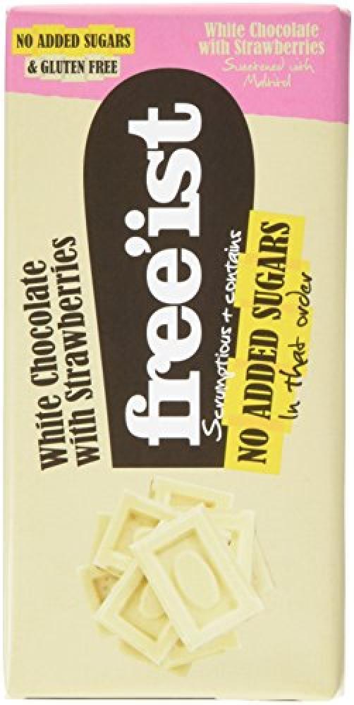 Freeist White Chocolate With Strawberries 75g
