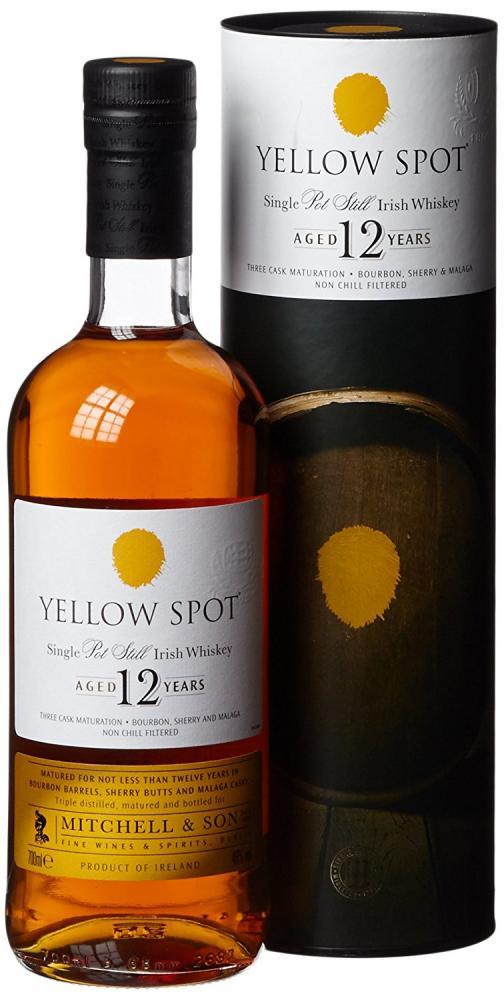 Mitchell and Son Yellow Spot 12 Year Old Single Pot Still Irish Whiskey 70cl