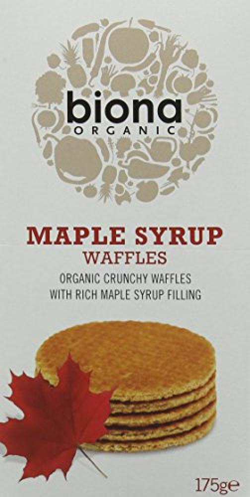 Biona Organic Maple Syrup Waffles 175 g