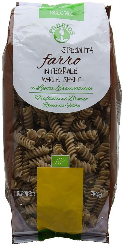 Probios Whole Spelt Fusilli Pasta 500 g