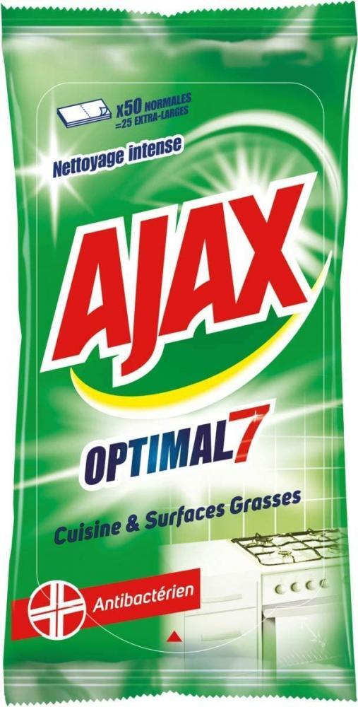 Ajax Optimal 7 Kitchen Cleaner Wipes 50 Pieces