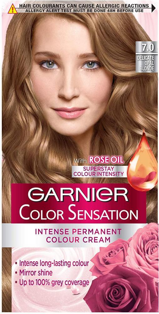 Garnier Color Sensation Blonde Hair Dye Permanent 7.0 Delicate Opal Blonde