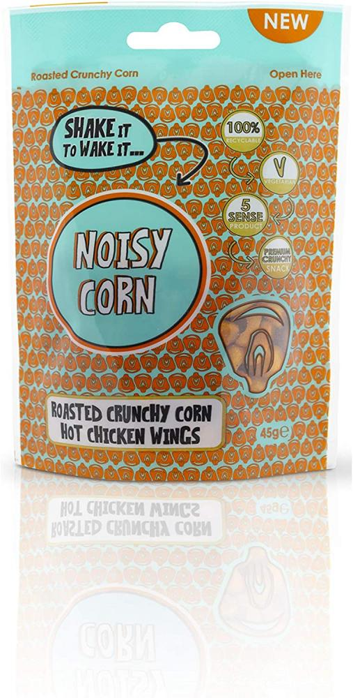 Noisy Snacks Corn Hot Chicken Wing Extra Bold Flavour 45g