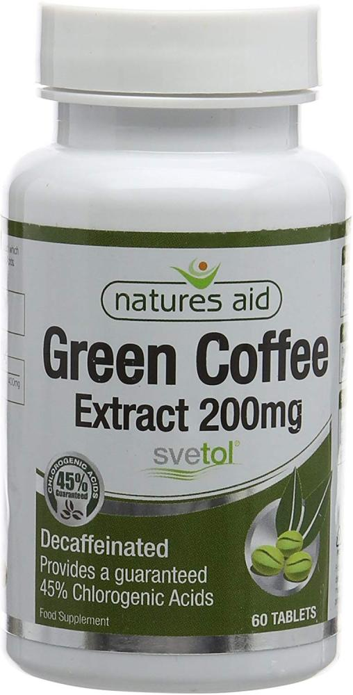 Natures Aid Green Coffee Extract 200mg 60 Tablets