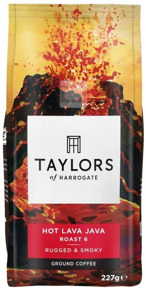 Taylors Of Harrogate Hot Lava Java Extreme Roast Ground Coffee 227g