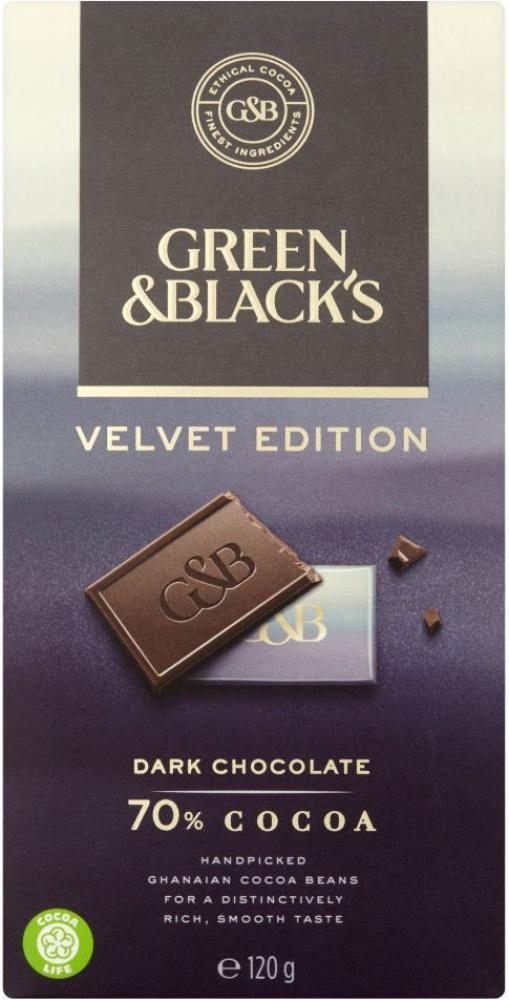 Green and Blacks Velvet Edition Dark Chocolate 120g