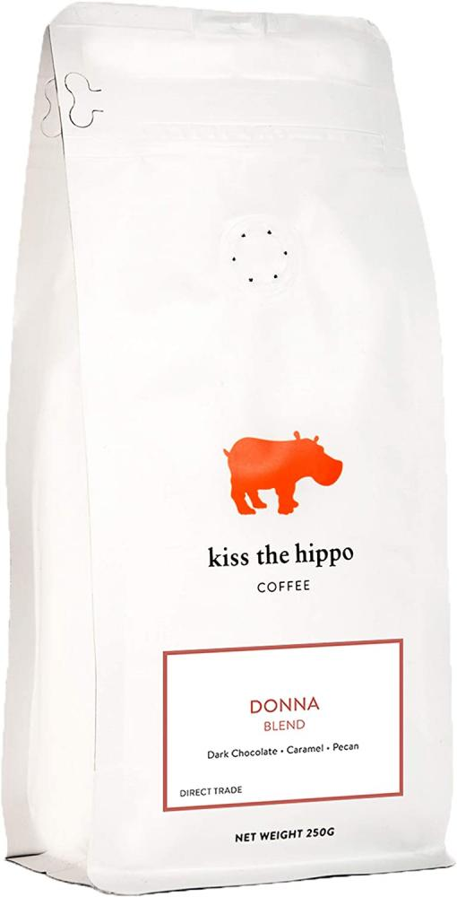 Kiss The Hippo Donna Blend Coffee Whole Beans 250g