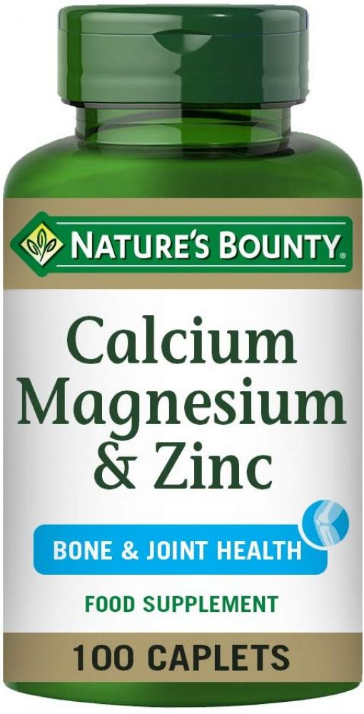Natures Bounty CalciumMagnesium and Zinc Coated Caplets Pack of 100