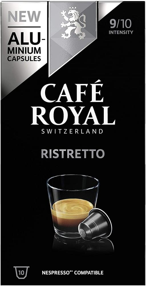 Cafe Royal Ristretto Nespresso Compatible Aluminium Coffee Pods 10 Capsules