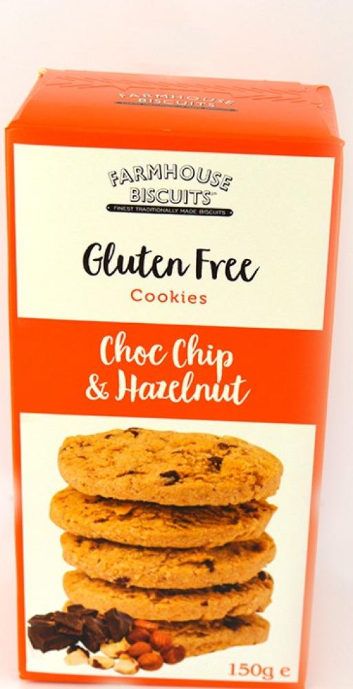 Farmhouse Biscuits Gluten Free Choc Chip and Hazelnut Cookies 150g