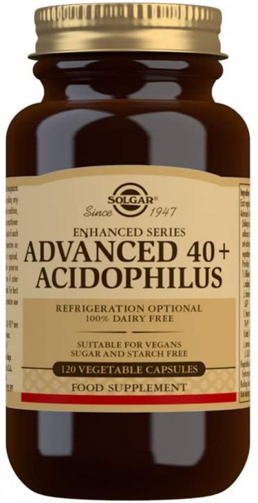 Solgar Advanced 40 Plus Acidophilus Vegetable Capsules Pack of 120
