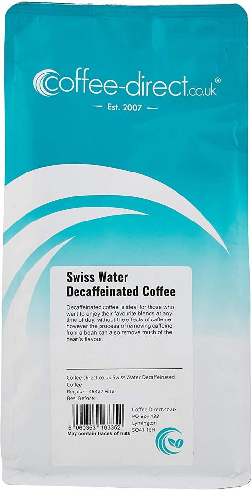 Coffee Direct Swiss Water Coffee Filter Grind Decaffeinated 454 g