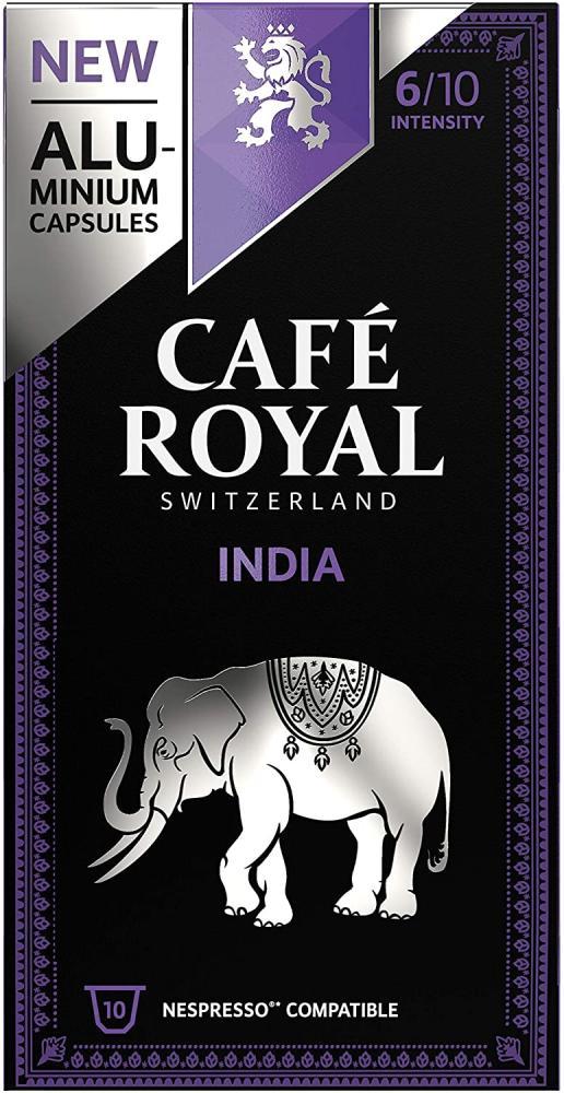Cafe Royal India Single Origin Nespresso 100 Compatible Aluminium Coffee Pods 10 capsules
