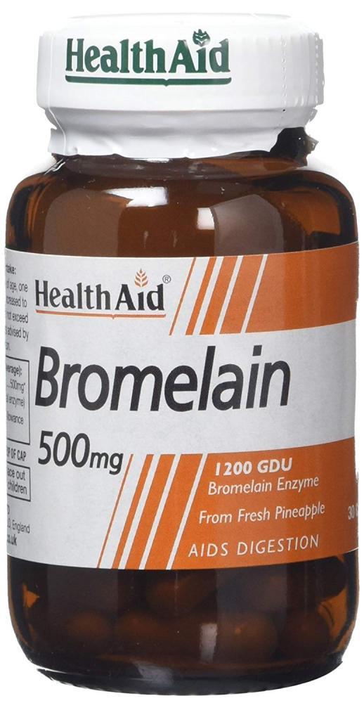 Health Aid Bromelain 500mg 30 Capsules